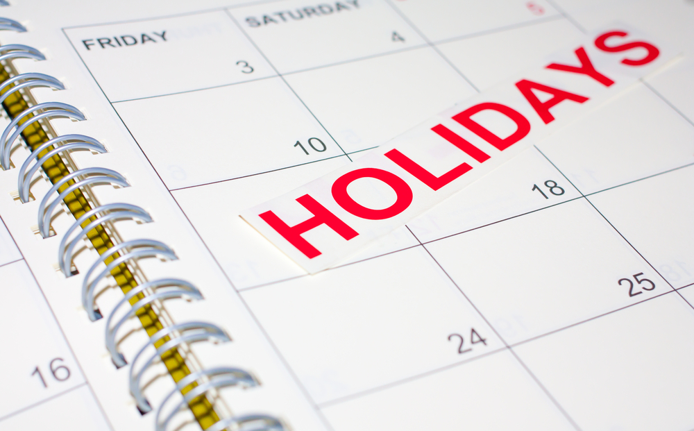 Holidays for contractors